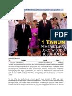 1 Tahun Pemerintahan Jokowi