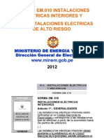 16. Seguridad Eléctrica Ministerio de Energia y Minas