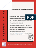 Homenaje a J.A. Labordeta. Semana Feria