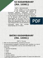Batas Kasambahay