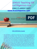 HCA 230 GENIUS Teaching Effectively/hca230genius.com
