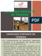 Capacidad Portante de Terreno