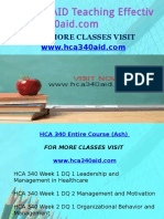 HCA 340 AID Teaching Effectively/hca340aid.com