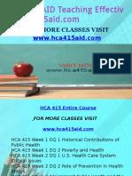 HCA 415 AID Teaching Effectively/hca415aid.com