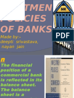 Ivestment Policies of Banks