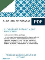 Cloruro de Potasio