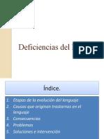 Deficiencias Del Lenguaje Def # 3