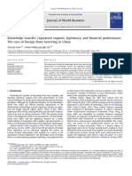 Knowledge Transfer, Regulatory Support, Legitimacy, And Financial Performace- The Case of Foreign Firms Investing in China