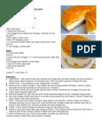 Resepi Kek Keju Mangga