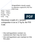 FIRE Extiguishers Rules and Reg