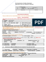 High Commission of India Visa Application Form