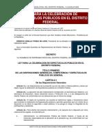 Ley Para La Celebración de Espectáculos Públicos en El Distrito Federal