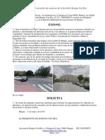Solicitud Prohibicion Aparcar en Glorietas 2015