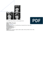 The Beatles Studio Albums in Chronological Order