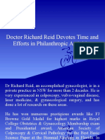 Doctor Richard Reid Devotes Time and Efforts in Philanthropic Activities