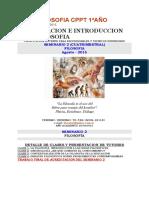 Seminario Filosofia - CPPT 1er Año
