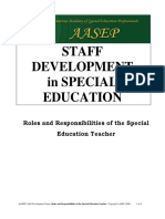 Roles Responsibilities SPED Teacher
