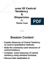 Measures of CT & Dispersion 2016 Adjust