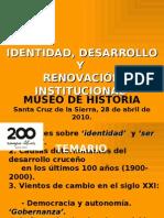 SER CRUCEÑO E INSTITUCIONALIDAD