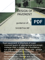Seminar design of rigid pavement