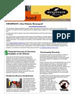 Henderson Reserve Newsletter May 2010