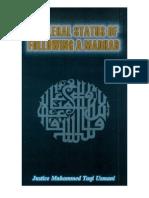 The Legal Status of Following a Madhab by Sheikh Mufti Taqi Usmani (Book)