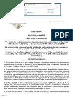 Acuerdo 06 de 2012 Universidad Nacional de Colombia
