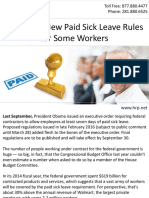 Watch for New Paid Sick Leave Rules for Some Workers