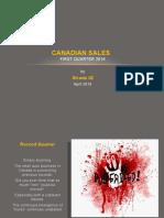 Canadian Sales First Quarter 2016