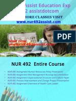 NUR 492 ASSIST Peer Educatordotcom