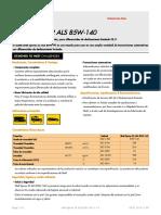Argentina Shell Spirax S2 ALS 85W-140  TDS