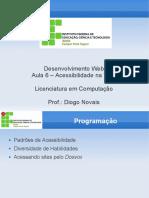 Desenvolvimento Web -Aula 6 - Acessibilidade
