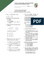 Examen Final de Cálculo Diferencial 2009- III