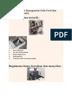 Integrated Pest Management Pada Food Dan Pharmacy Industry