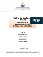 Matriz de Avaliacao Com Descritores 3ano