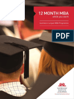 AIB - 12 Month MBA - Brochure