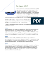 The History of PHP