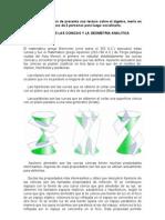 Historia de Las Conicas y La Geometria Analitica