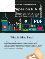 White Paper on R and D
