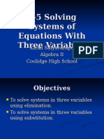 3-5 systems with 3 variables