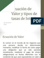 4. Ecuación de Valor y Tipos de Tasas de Interes