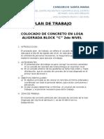 Plan de Trabajo Losa Aligerada 2nivel Block c