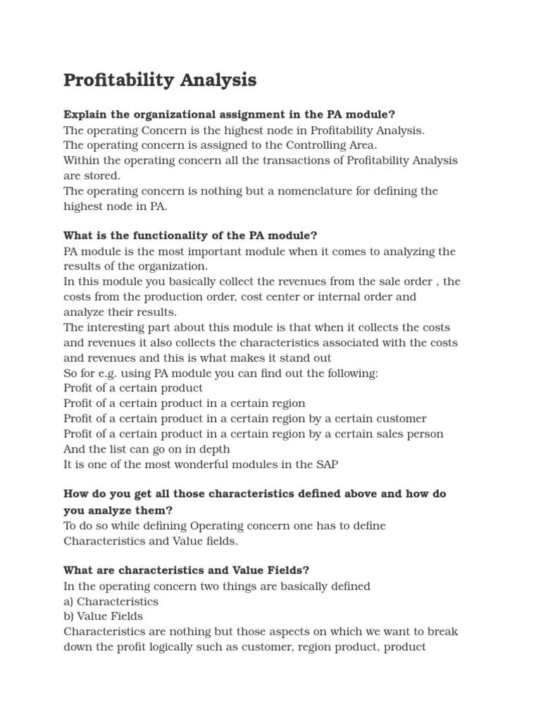 Profitability Analysis | Profit (Accounting) | Tax Deduction
