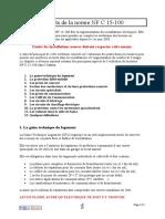 NF C15-100 Aspects de La Norme