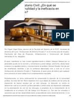 VIII Pleno Casatorio Civil_ ¿en Qué Se Diferencian La Nulidad y La Ineficacia en Sentido Estricto_ _ Enfoque Derecho _ El Portal de Actualidad Jurídica de THEMIS