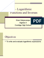 7-3 logarithmic functions as inverses