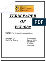 RC Circuit And Its ApplicationTerm Paper