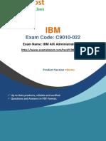 ExamsBoost C9010-022 PDF Training Kits