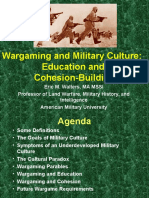 War Gaming and Military Culture