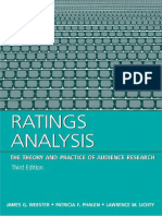 [James G. Webster] Ratings Analysis - The Theory A